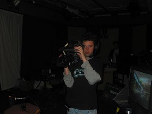 Me getting ready for a night of shooting sometime in early 2004. I don't look as thrilled as I normally was when we were on air.
