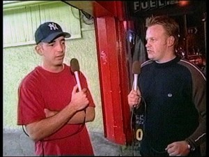 CowTV Presenters from 1999, Marcus Sontagg (L) and Andrew Mulligan (R).