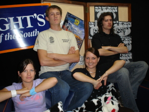 The presenting line up as per Feb 05, L to R - Helen O'Leary, Hamish Coleman-Ross, Anna Hegarty, Jez Brown.