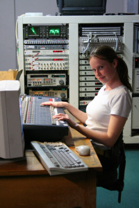 The lovely Victoria Rushton was our main sound operator for most of the year.