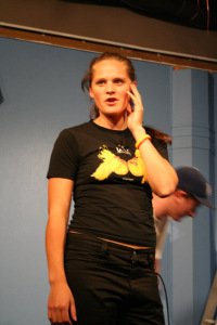 Tineille Charteris during the last show of 2005.
