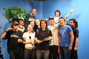 The almost entirely wonderful core 2005 Cow TV Crew (except for Helen who couldn't make the last night).